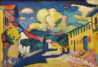 Vassily_Kandinsky,_1908,_Murnau,_Dorfstrasse