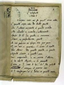 infinito manoscritto