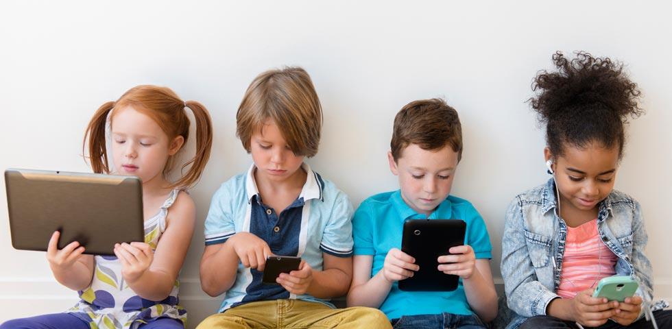 Children using technology