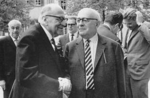 Marcuse e Adorno, due famosi rappresentanti della Scuola di Francoforte