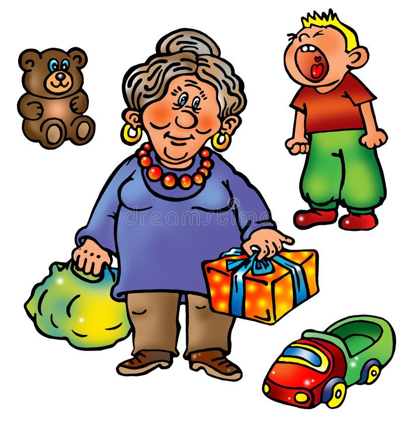 nonna-con-i-presente-e-nipote-impertinente-10557741