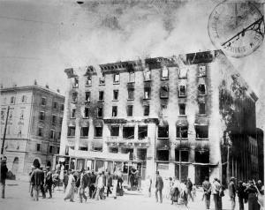 l'incendio del Narodni dom (casa del popolo)