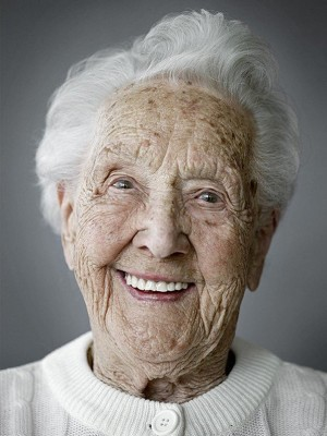 anziana che sorride